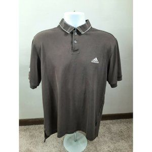 S2 Adidas Climalite Golf Polo Shirt Medium Brown